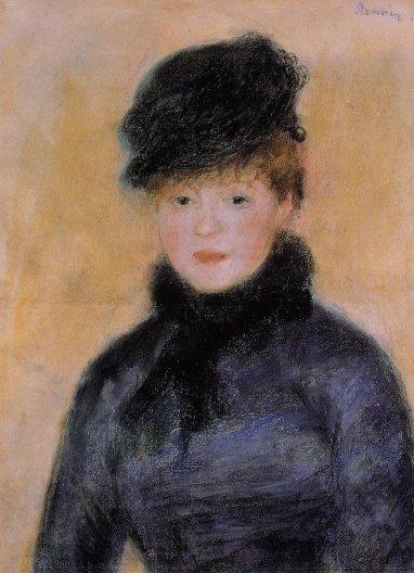Pierre-Auguste Renoir - Woman with a Blue Blouse