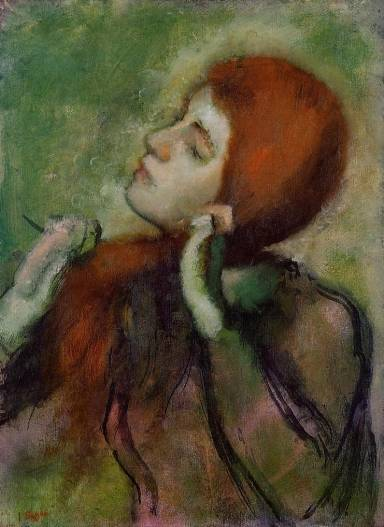 Edgar Degas - Woman Combing Her Hair 2