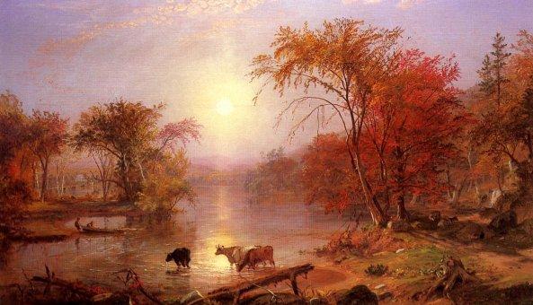 Albert Bierstadt - Indian Summer Hudson River