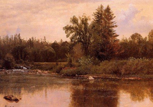 Albert Bierstadt - Landscape New Hampshire
