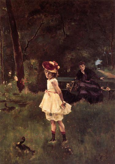 Alfred Stevens - La Fillette au Canard