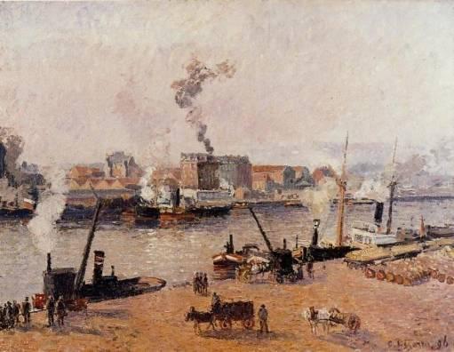 Camille Pissarro - Fog, Morning, Rouen 2