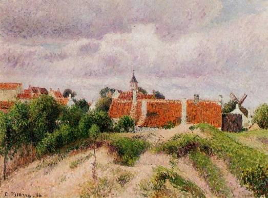 Camille Pissarro - Houses at Knocke, Belgium 2