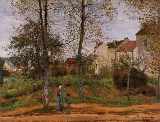 Camille Pissarro - Landscape near Louveciennes 1