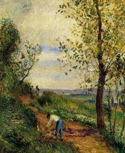 Camille Pissarro - Landscape with a Man Digging