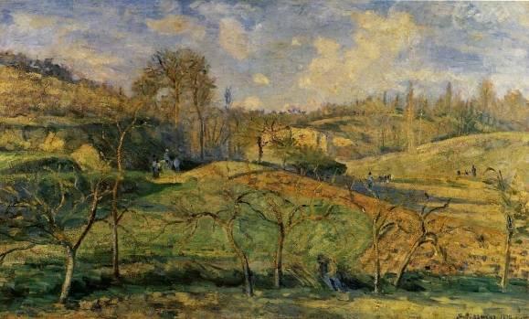 Camille Pissarro - March Sun, Pontoise