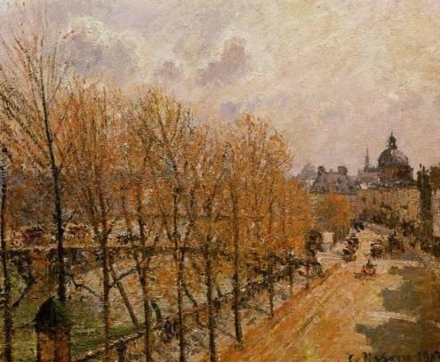 Camille Pissarro - Quai Malaquais - Morning, Sun
