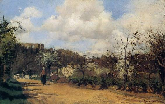 Camille Pissarro - Springtime in Louveciennes