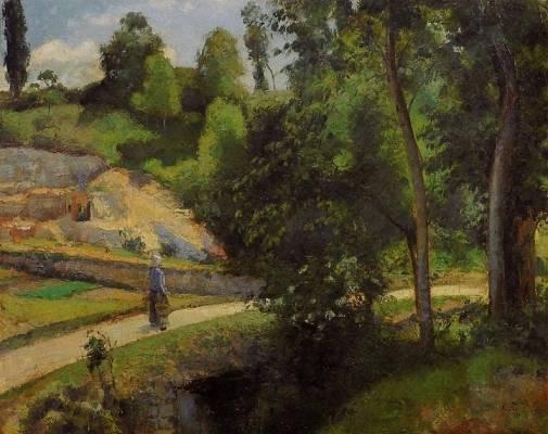Camille Pissarro - The Quarry, Pontoise