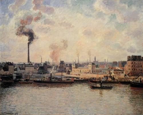 Camille Pissarro - The Saint-Sever Quay, Rouen
