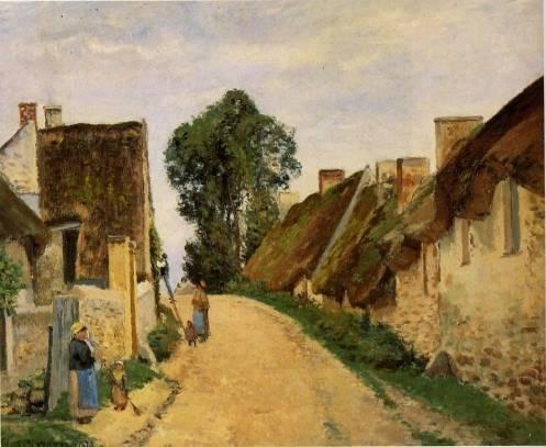 Camille Pissarro - Village Street, Auvers-sur-Oise