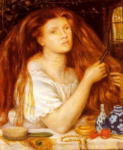Dante Gabriel Rossetti - Woman Combing Her Hair