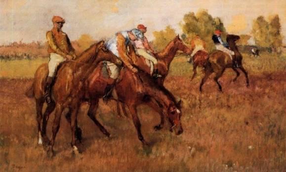 Edgar Degas - Before the Race 4