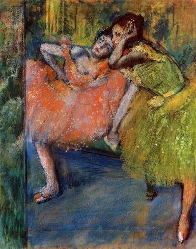 Edgar Degas - Two Dancers in the Studio