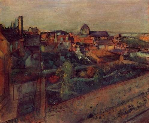 Edgar Degas - View of Saint Valery sur Somme