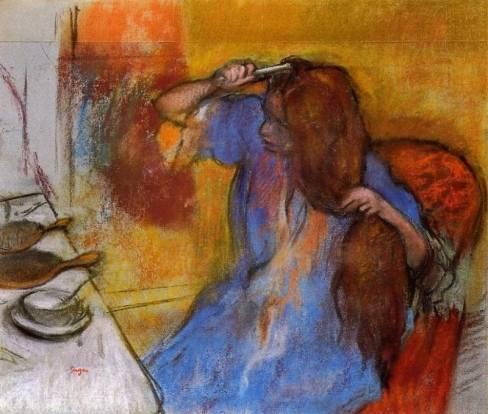 Edgar Degas - Woman Brushing Her Hair