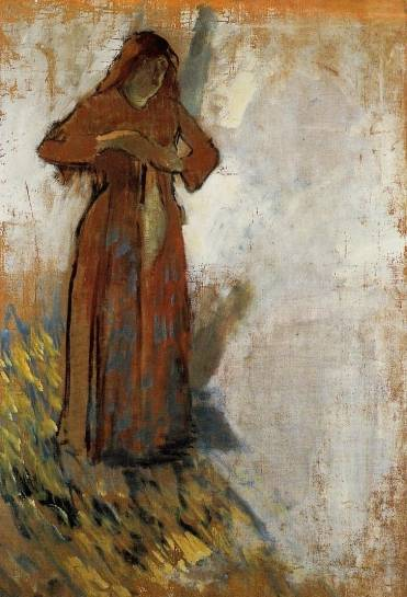 Edgar Degas - Woman with Loose Red Hair