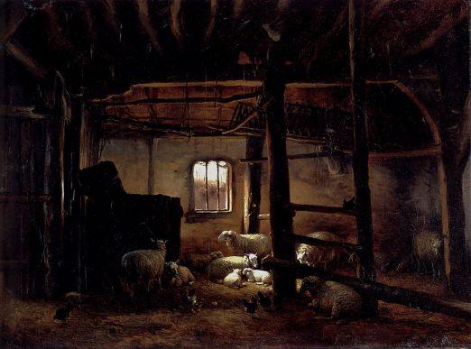 Eugene Joseph Verboeckhoven - In The Stable