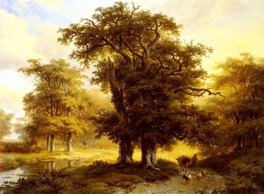 Eugene Joseph Verboeckhoven - The Country Road