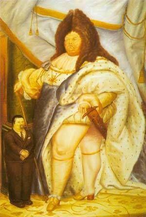 Fernando Botero - Self-portrait With Louis Xiv