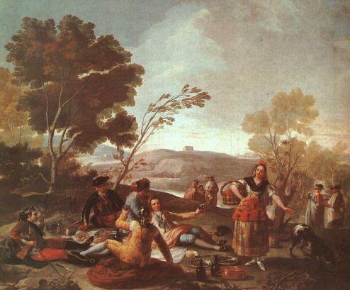 Francisco Goya - Picnic on the Banks of the Manzanares