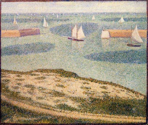Georges Seurat - Port-en-Bessin, Entrance to the Outer Harbor