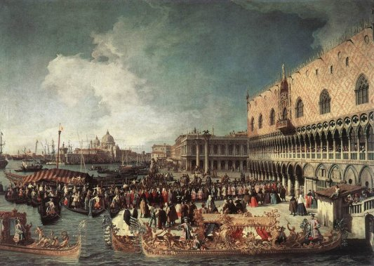 Giovanni Antonio Canal Canaletto - Reception Of The Ambassador In The Doges Palace