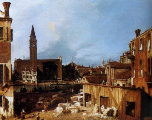 Giovanni Antonio Canal Canaletto - Stonemasons Yard