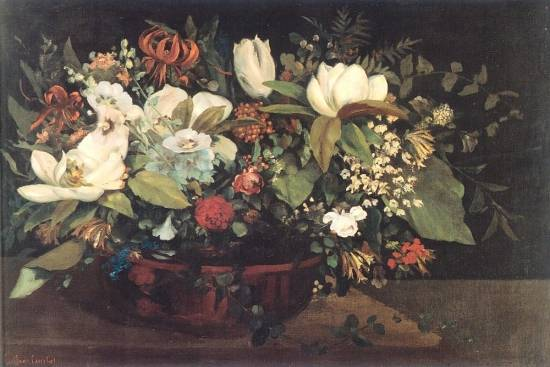 Gustave Courbet - Basket of Flowers