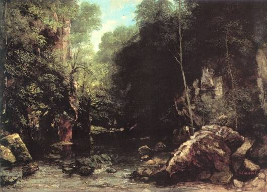 Gustave Courbet - The Shaded Stream