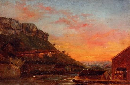 Gustave Courbet - The Valley of the Loue
