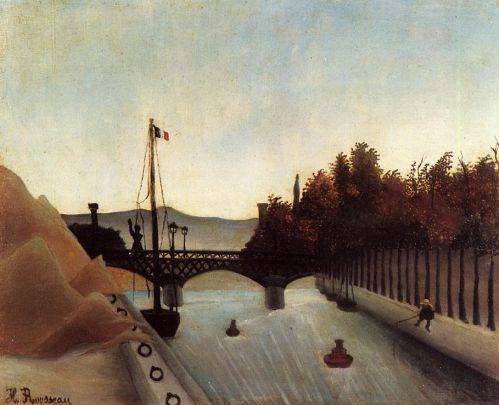 Henri Rousseau - Footbridge at Passy
