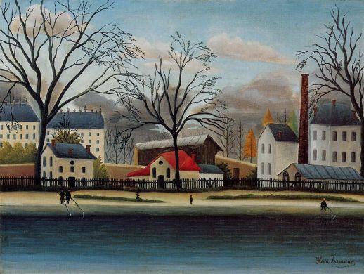 Henri Rousseau - Suburban Scene