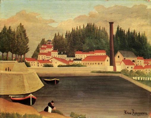 Henri Rousseau - Village near a Factory