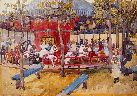 Maurice Prendergast - Merry-Go-Round, Nahant