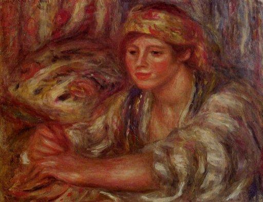 Pierre-Auguste Renoir - Woman Playing Cards
