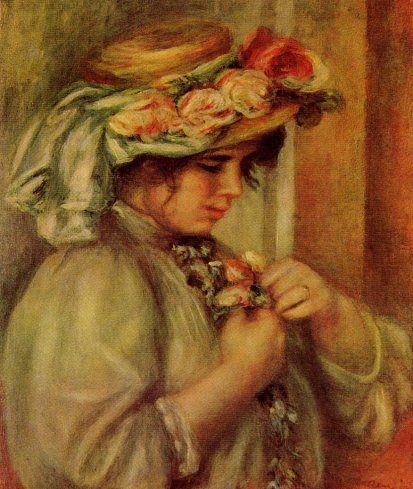 Pierre-Auguste Renoir - Young Girl in a Hat