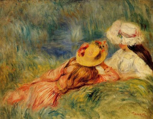 Pierre-Auguste Renoir - Young Girls by the Water