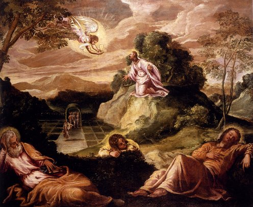 Tintoretto Jacopo Robusti Agony In The Garden