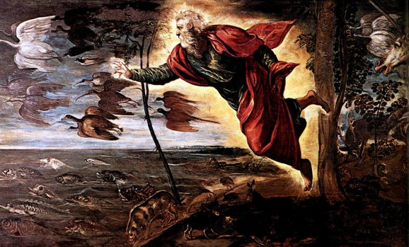 Tintoretto Jacopo Robusti - Creation Of The Animals