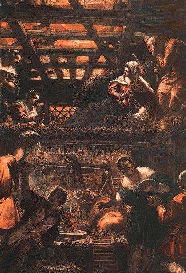 Tintoretto Jacopo Robusti - The Adoration Of The Shepherds