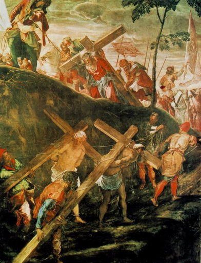 Tintoretto Jacopo Robusti - The Ascent To Calvary