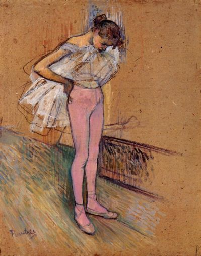 Toulouse Lautrec - Dancer Adjusting Her Tights