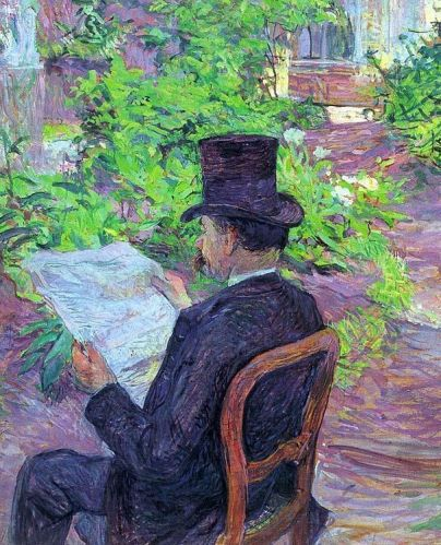 Toulouse Lautrec - Desire Dehau Reading a Newspaper in the Garden