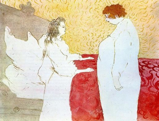 Toulouse Lautrec - Elles - Woman in Bed, Profile, Getting Up