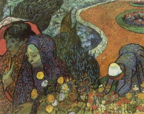 Vincent van Gogh - Memory of the Garden at Etten, Women of Arles