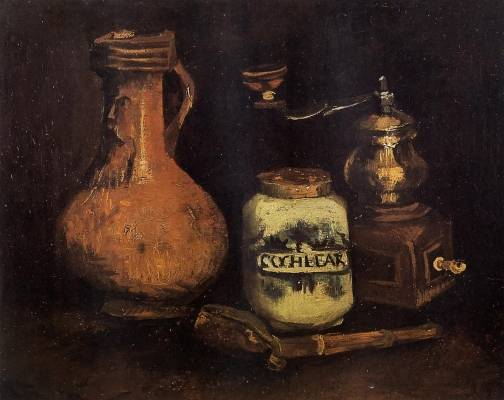 Vincent van Gogh - Still Life with Coffee Mill, Pipe Case and Jug