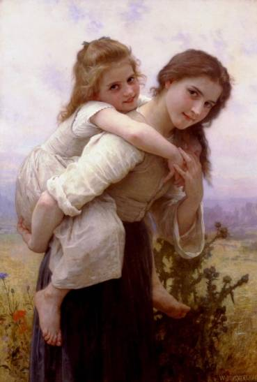 William Adolphe Bouguereau - Not too Much to Carry