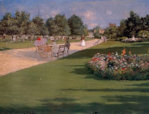 William Merritt Chase - Tompkins Park, Brooklyn