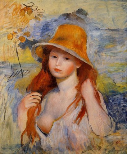 Pierre-Auguste Renoir - Young Woman in a Straw Hat 02